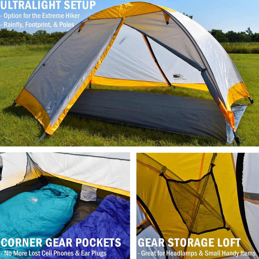 Yosemite 2 Person Backpacking Tent with Footprint  sc 1 st  Hyke \u0026 Byke & Yosemite 2 Person Backpacking Tent with Footprint \u2013 Hyke \u0026 Byke