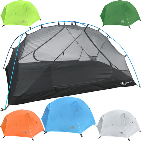 Zion 2.5 Person Backpacking Tent with Footprint