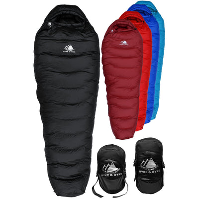 Snowmass 0°F Ultralight 650FP Down Sleeping Bag Sleeping Bag Hyke & Byke Regular Black