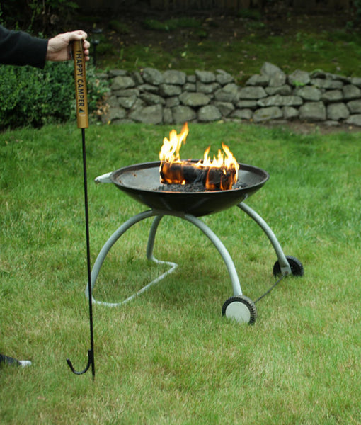 Happy Camper Outdoor Fire Pit Poker