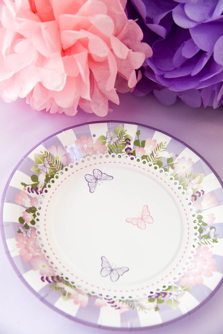 Secret Garden Paper Plates (Pack of 8)
