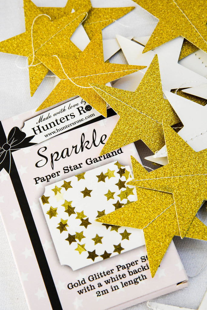 Sparkle Star Paper Garland