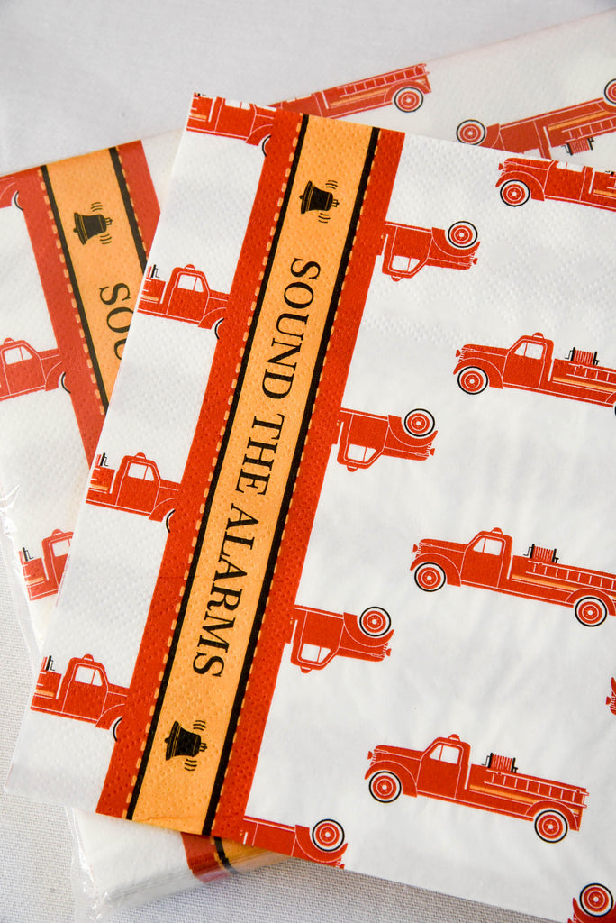 Vintage Fire Truck Napkins (Pack of 20)