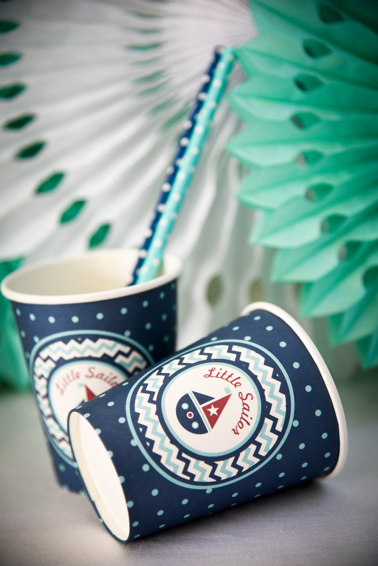 Little Sailor Paper Cups (Pack of 8)