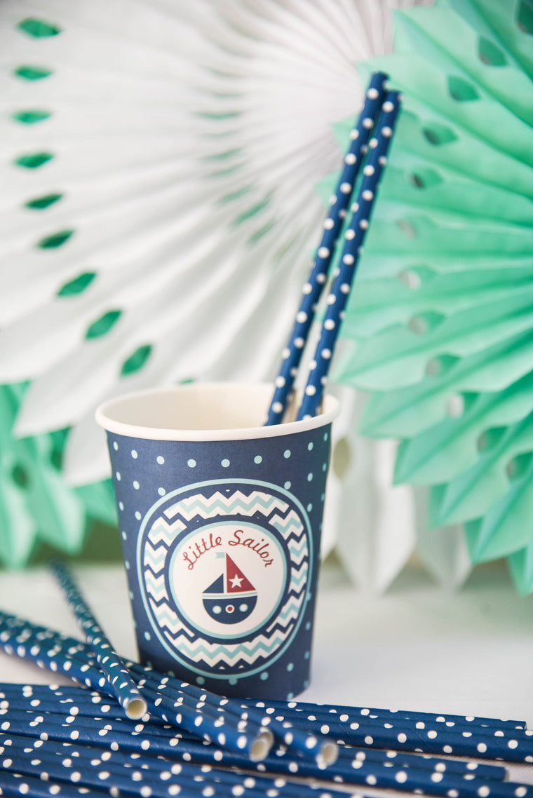 Little Sailor Paper Straws (Pack of 25)