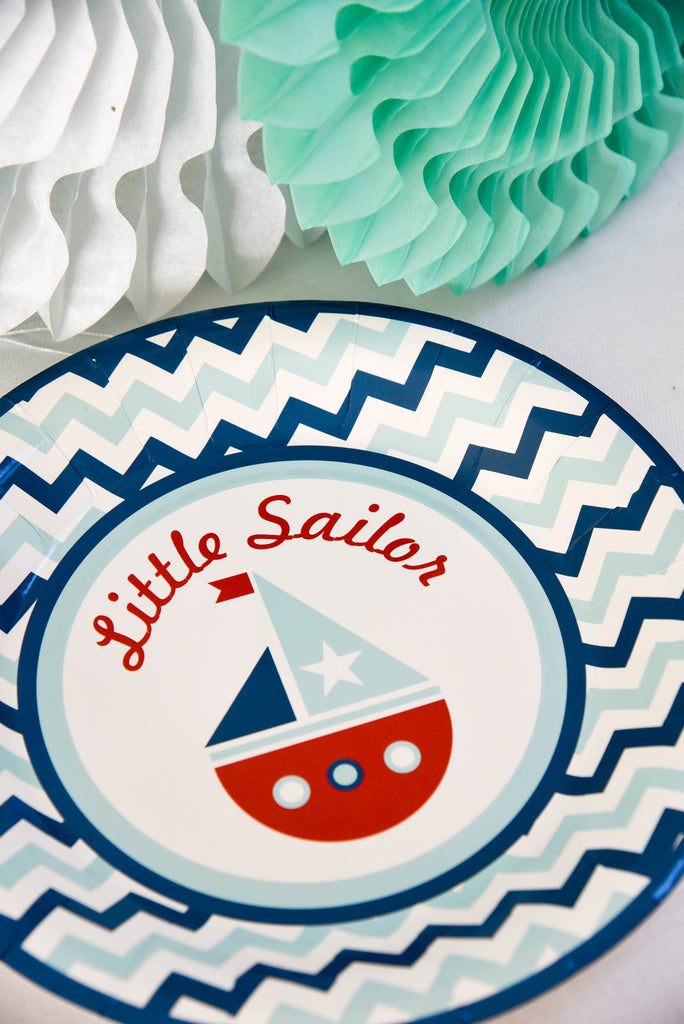 Little Sailor Paper Plates (Pack of 8)