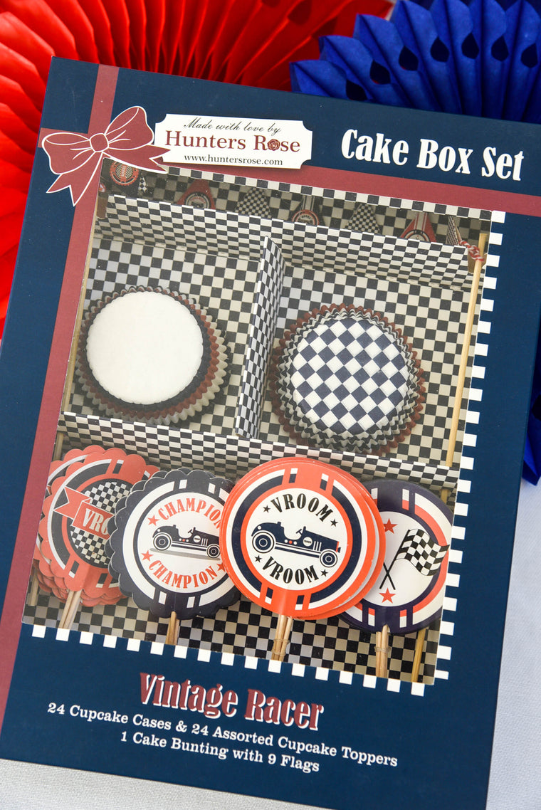 Vintage Racer Cake Box Set
