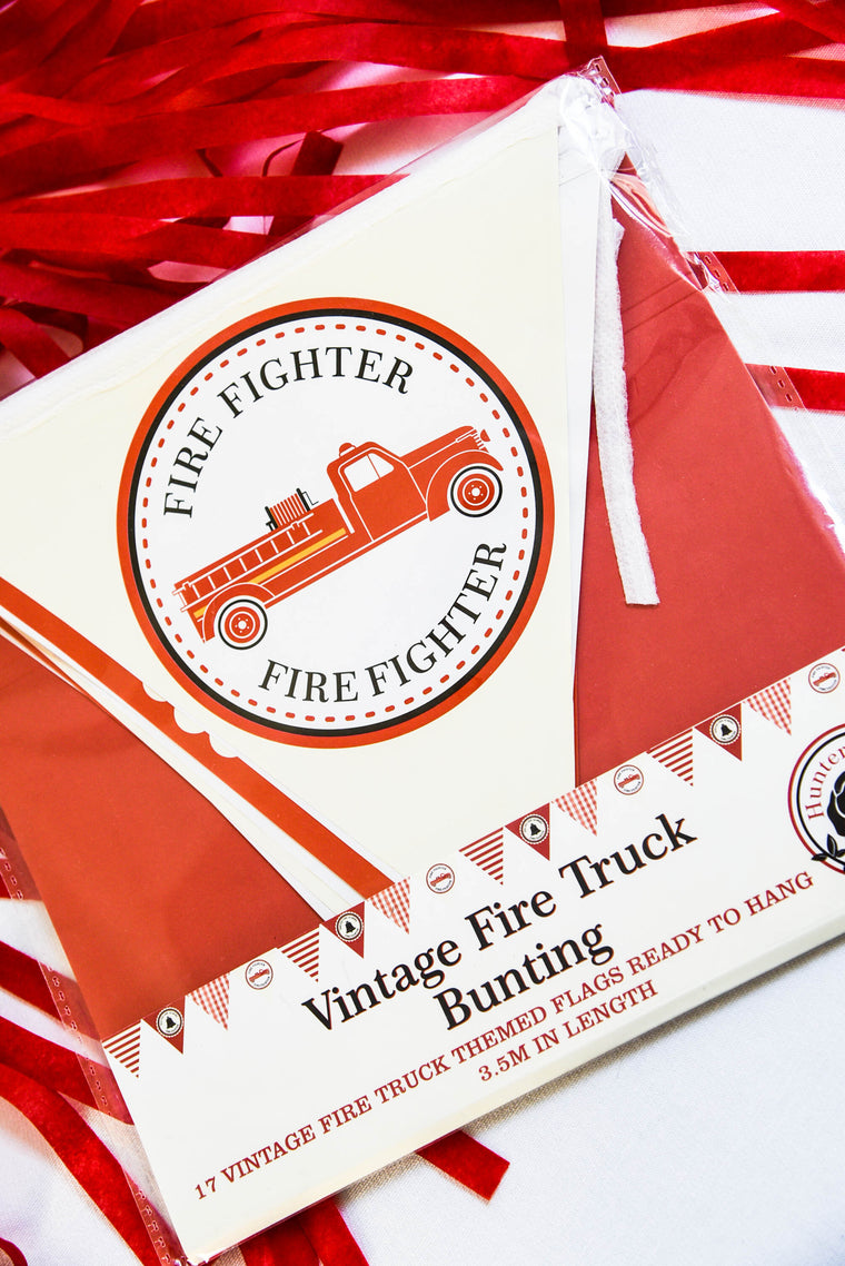 Vintage Fire Truck Bunting