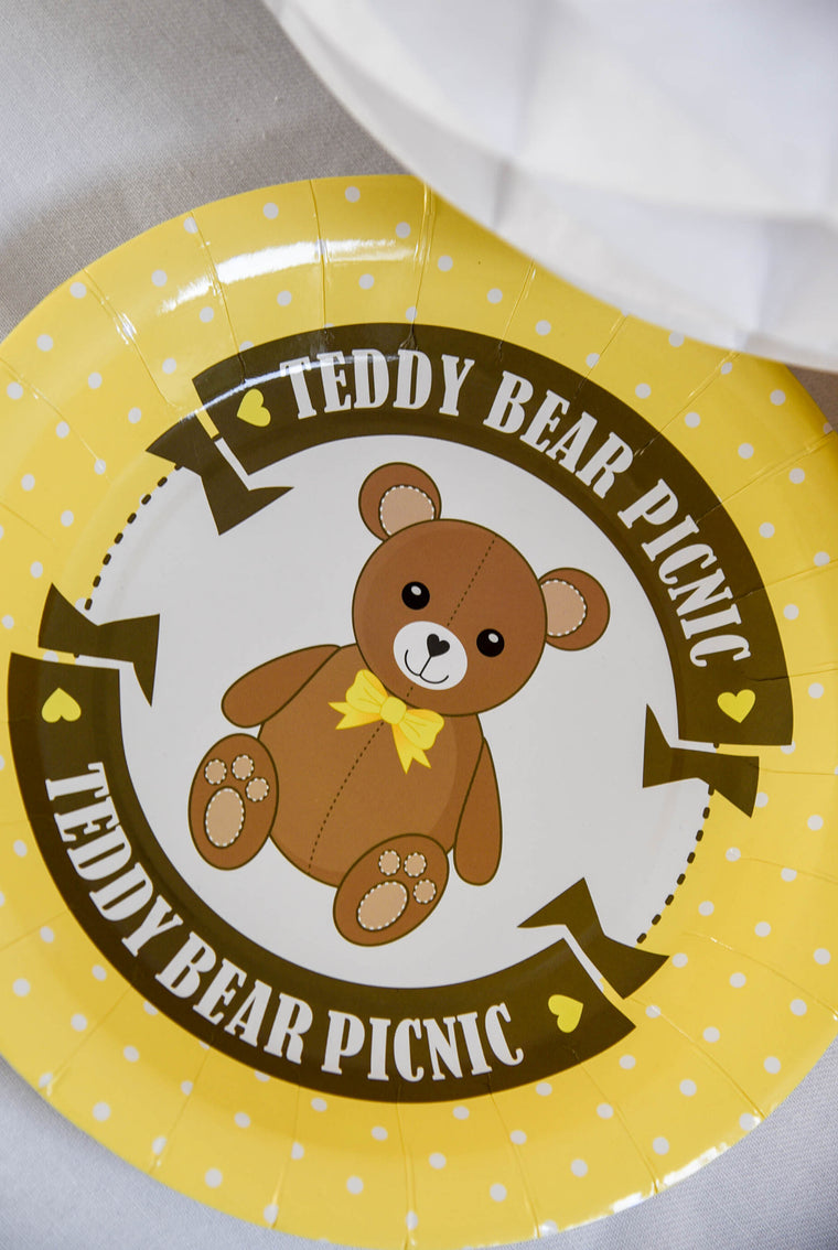 Teddy Bear Picnic Paper Plates (Pack of 8)