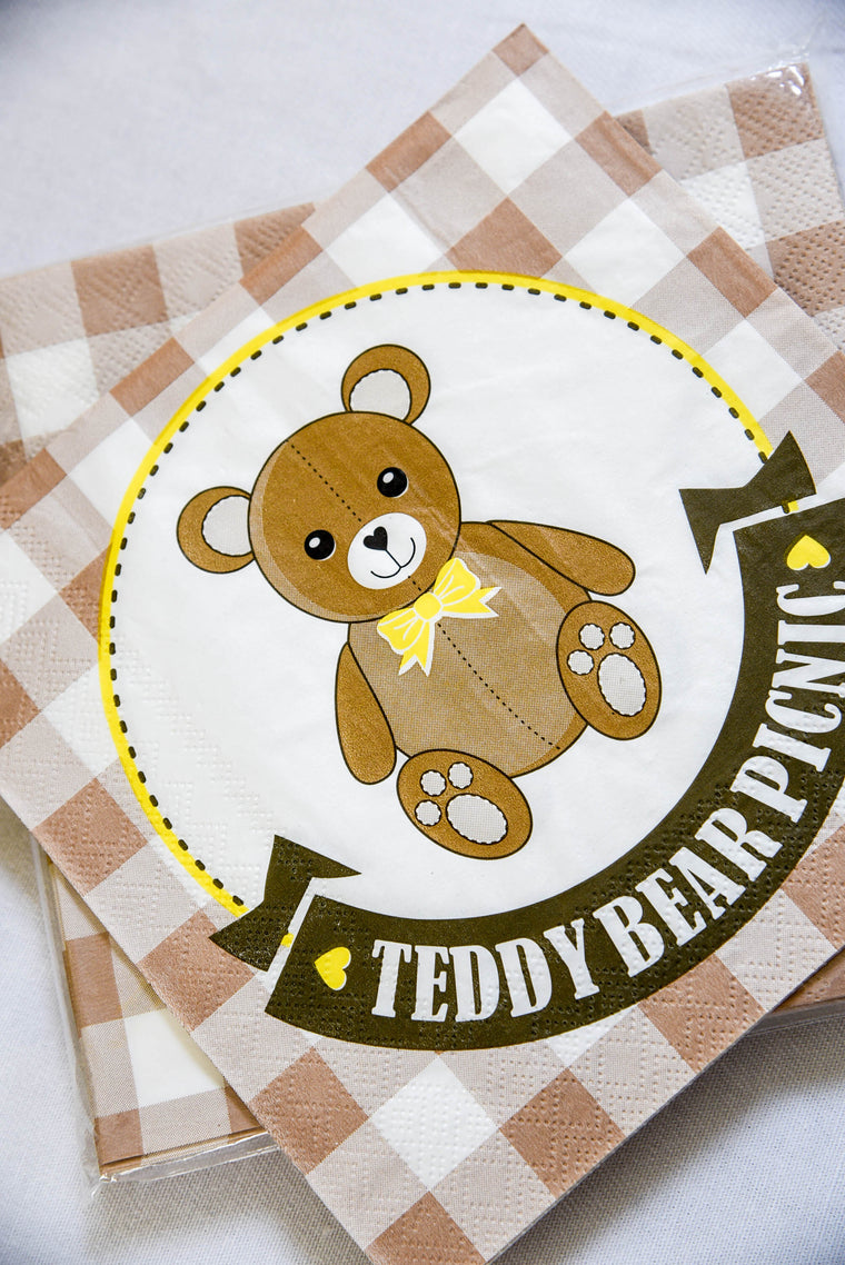 Teddy Bear Picnic Napkins (Pack of 20)