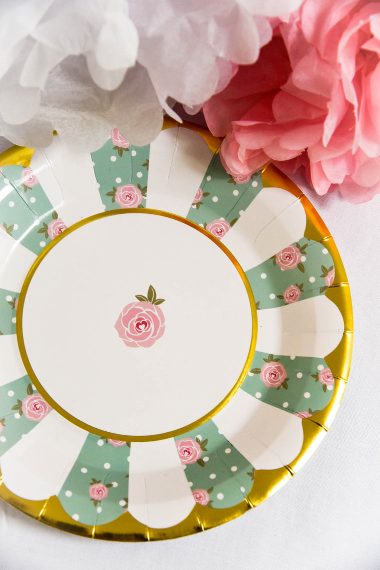 High Tea Paper Plates (Pack of 8)