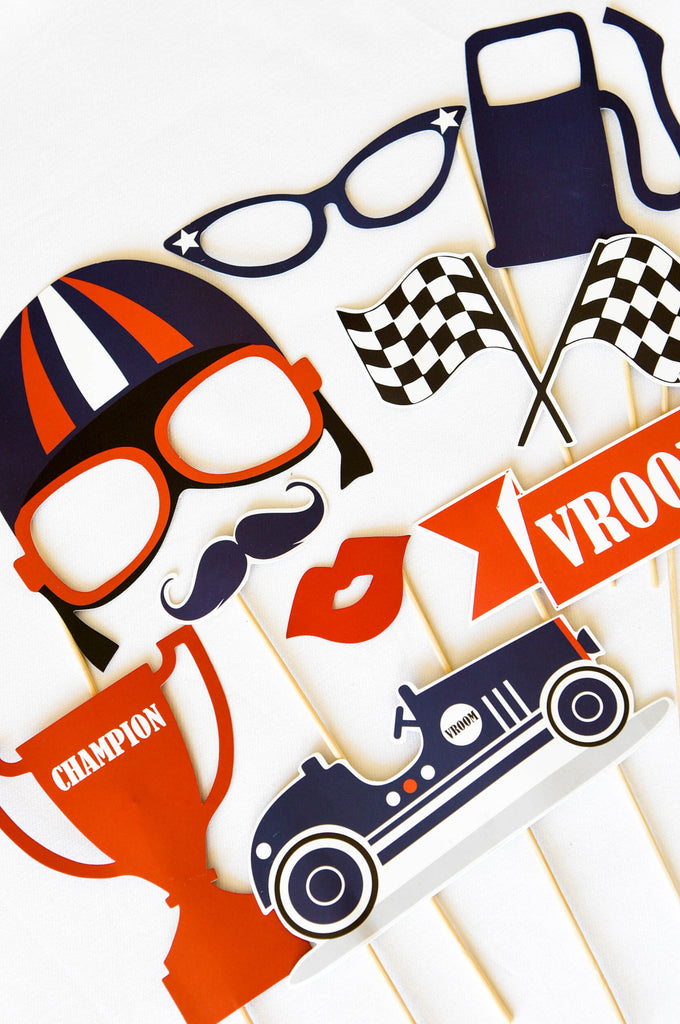 Vintage Racer Photobooth Props