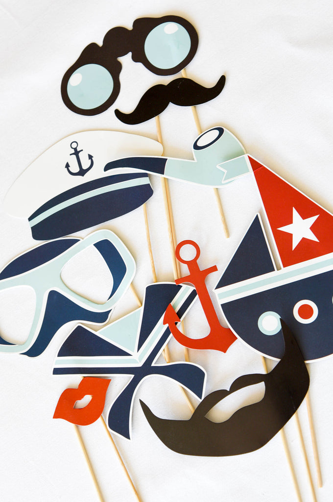 Little Sailor Photobooth Props