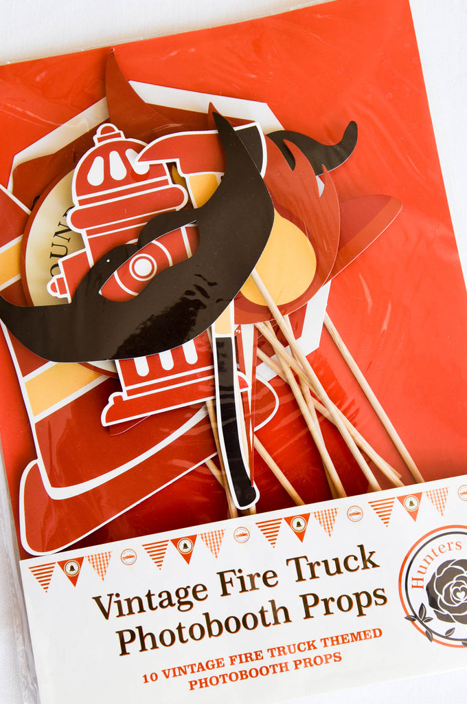 Vintage Fire Truck Photobooth Props