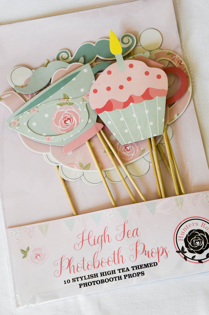 High Tea Photobooth Props