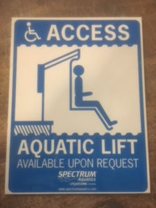 ADA Pool Sign
