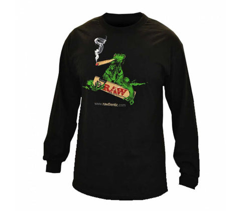 RAW Long Sleeve ( Smoking Lizard)