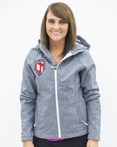 Women's Gray Cosmo Motors Jacket w/ Hood