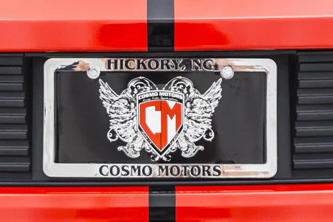 Cosmo Motors Tag Frame