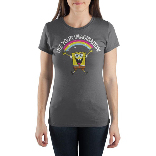 "SpongeBob SquarePants ""Use Your Imagination"" Short-Sleeve Women's T-Shirt"