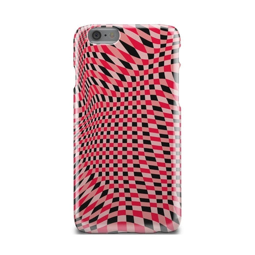 Red Black And White Optical Illusion iPhone X Case - Zacca store