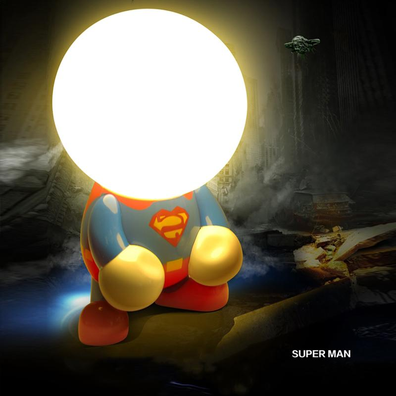 Super Hero LED Night Light Creative Table Lamp USB Charger - Zacca store