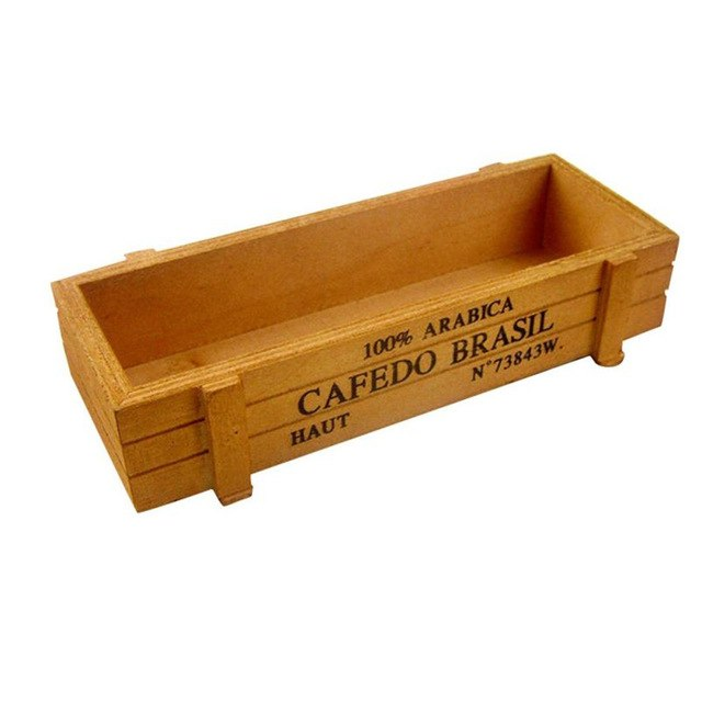 Vintage Style Wooden Storage Box For Flower, Plants, Bonsai - Zacca store
