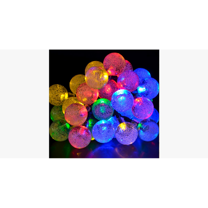 Led Solar-Powered Crystal Ball String 20 Lights - Zacca store