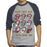 Rolling Stones Voodoo - Womens Heather/Navy Raglan T-Shirt