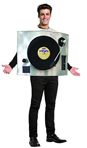 ターンテーブル  DJ コスチューム大人用 Rasta Imposta Turntable Record Player Costume Mens Womens 80s 90s Party