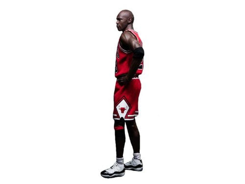 マイケル・ジョーダン  NBA Michael Jordan #23 Away Red Jersey 1:6 Figure with Air Jordan II, X, XI shoes