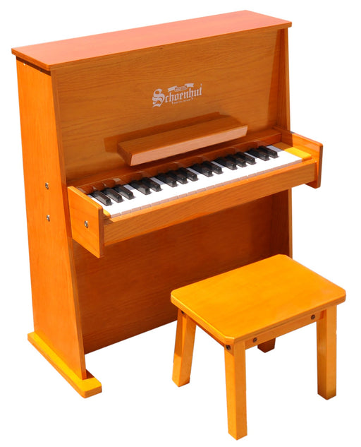 Boy playing Schoenhut Day Care Durable Piano 37-Key Oak  Schoenhut Day Care Durable Piano 37-Key Oak - Zacca store