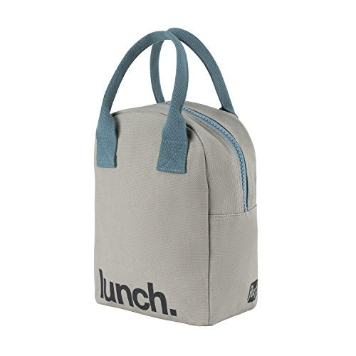 オーガニック コットン ランチバッグ Fluf Zipper Lunch Bag | Reusable Canvas Lunch Box | Organic Cotton Meal Tote