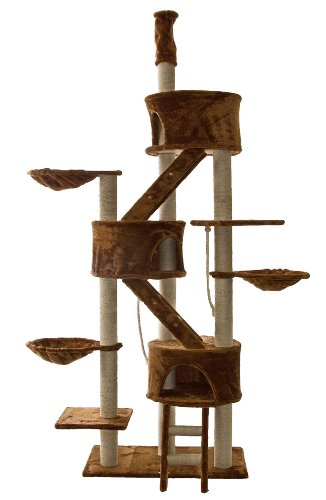 ゴーペット 猫様ツリーハウス Go Pet Club Huge Cat Tree Beige Color: Pet Supplies - Zacca store