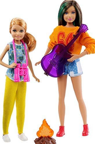 バービーのシスターズ キャンプで焚き火セット Barbie Sisters Camping Fun Doll Set with Skipper and Stacie - Zacca store