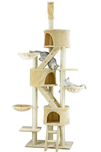 ゴーペット 猫様ツリーハウス Go Pet Club Huge Cat Tree Beige Color: Pet Supplies