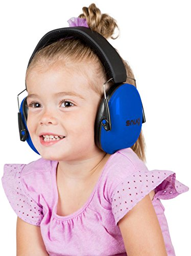 Snug Kids Earmuffs / Best Hearing Protectors – Adjustable Headband Ear Defenders For Children and Adults (Original Blue) - Zacca store
