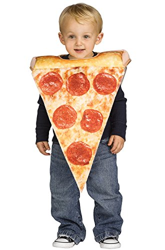 キッズ ハロウィーンコスチューム ピザ Toddler Lil Pizza Slice Halloween Costume Size 3T-4T: Home & Kitchen