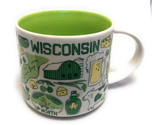 スターバックス 行ったことあるシリーズ マグ-  ウィスコンシン Starbucks WISCONSIN Been There Series Across the Globe Collection Coffee Mug 14 Ounce