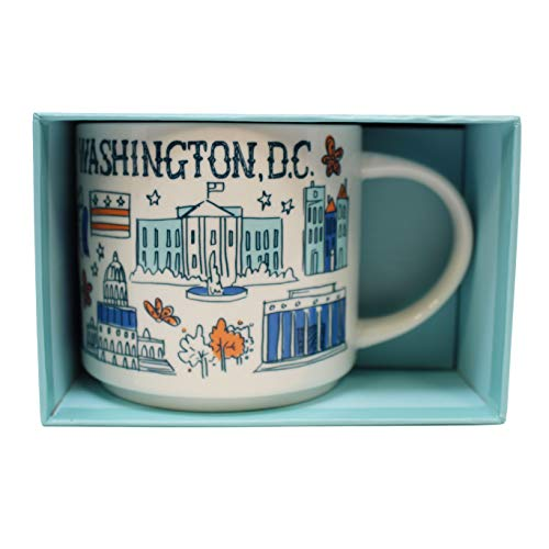 スターバックス 行ったことあるシリーズ マグ-  ワシントンDC Starbucks Coffee 2018, Been There Series, Washington DC Mug, 14-Ounce with Gift Box