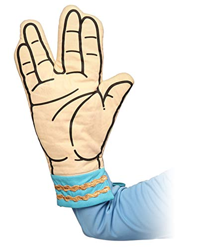 スタートレック Dr.スポック 鍋つかみ Star Trek Spock Oven Mitt - Live Long and Dont Burn Your Hands: Think Geek