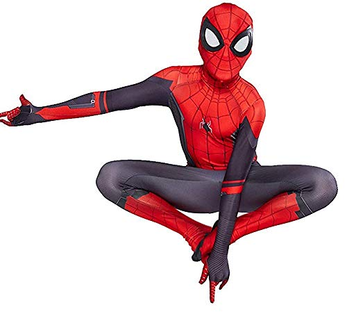 スパイダーマン 子供用コスチューム Snow Flying Kids Lycra Spandex Zentai Halloween Cosplay Costume Jumpsuit Suit Red