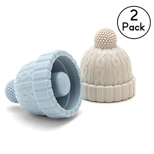 ニット帽ワイン栓キャップ Beanie Cap Silicone Bottle Stopper, Set of Two, Novelty Cork Replacement, Beverage and wine Keeper