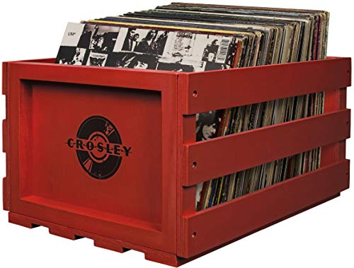 レコード クレート 収納ケース Crosley AC1004A-RE Record Storage Crate Holds up to 75 Albums