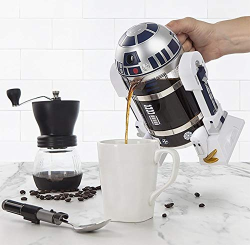 スターウォーズ コーヒー/ティーメーカー・ティープレス ThinkGeek Star Wars Coffee Press R2D2 Limited Edition 4 Cup French Press - Includes Glass Carafe - Zacca store