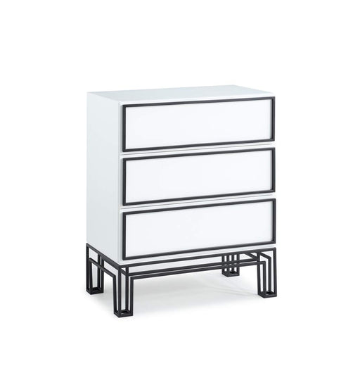ジョナサン・アドラー  ドレッサー Now House by Jonathan Adler Grid 3-Drawer Dresser, Black and White