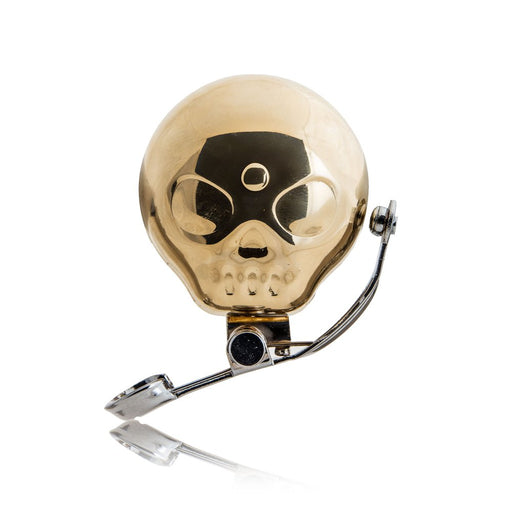 ガイコツ自転車用ベル Brass Skull Shaped Bike Bell - Zacca store