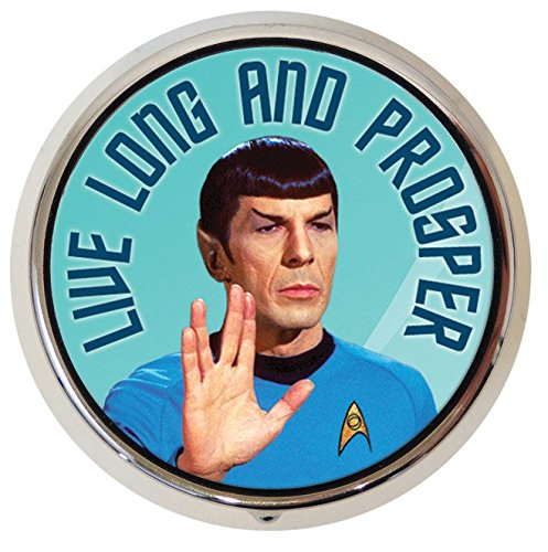スタートレック Dr. スポック ピルケース Original Star Trek Spock Leonard Nimoy Pill Box - Compact 1 or 2 Compartment Medicine Case: Health & Personal Care