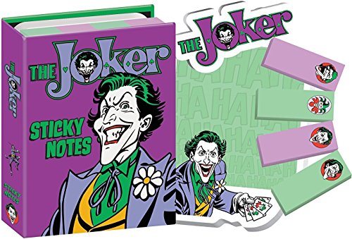 DCコミック付箋ブックレット DC Comics Batman's The Joker Sticky Notes Booklet - Zacca store