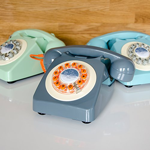 レトロ電話機 Rotary Design Retro Landline Phone for Home - Zacca store